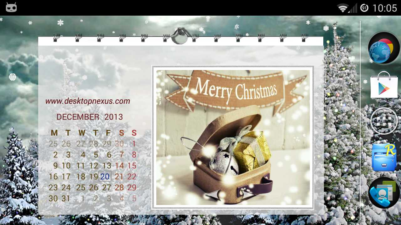 Screenshot of the Christmas HD Picture Wall Calendar